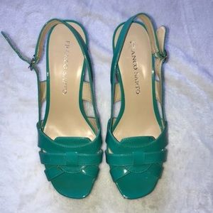 Franco Sarto Teal Wedges Women's Size 7.5